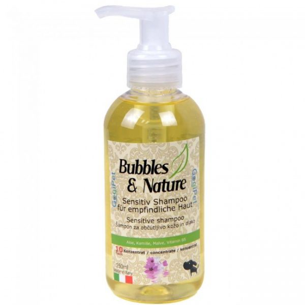 Naravni šampon za pse z občutljivo kožo in dlako