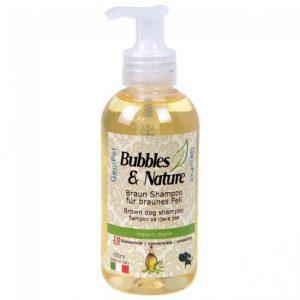 Naravni šampon za pse z rjavo dlako
