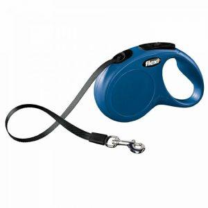 Povodec za pse – Fleksi New Classic do 20kg, modra barva 5m