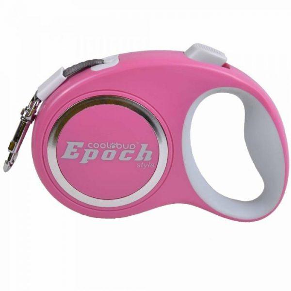 Povodec za pse – Fleksi z roll sistemom do 20kg, roza barva 3m