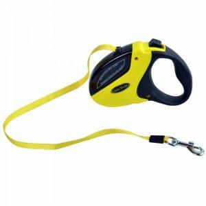 Povodec za pse – Fleksi z roll sistemom do 20kg, rumena barva 3m