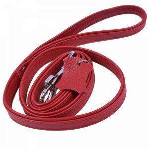 Povodec za pse – Floater usnje, rdeča barva 120cm