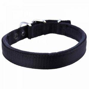 Ovratnica za pse – komfort tekstilna, črna barva 60cm