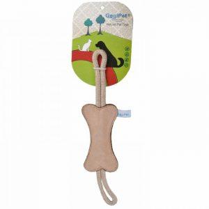 GogiPet® naravna igrača za pse – Kost bež barve, velikost 39cm