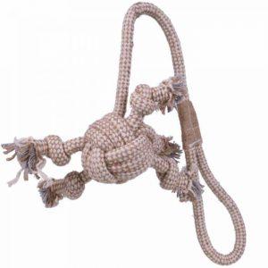 GogiPet® naravna igrača za pse - Vrv z žogo - 2