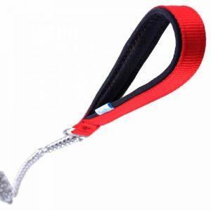 Povodec za pse – GogiPet® z verigo, rdeča barva 110cm